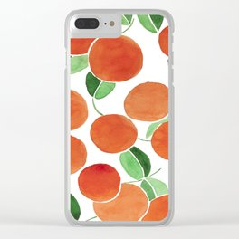 Tiny oranges Clear iPhone Case