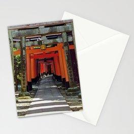 Torii gates - Kyoto, Japan Stationery Cards