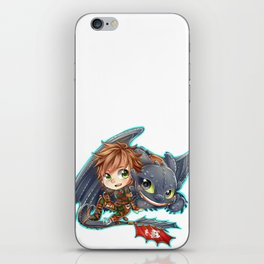 Httyd 2 - Chibi Hiccup and Toothless iPhone Skin