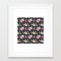 flower pattern Framed Art Prints featuring Flower Pattern by eARTh