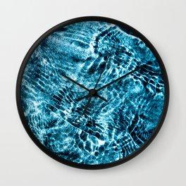 Blue Shallows Wall Clock