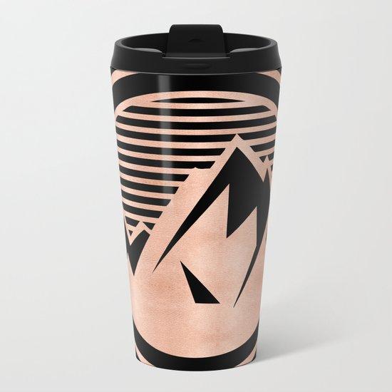 THE MOUNTAIN Rose Gold Metal Travel Mug