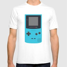 GAMEBOY Color - Light Blue Version MEDIUM White Mens Fitted Tee