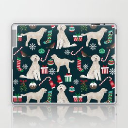 Golden Doodle unique christmas gifts for dog person dog breed pet portraits by pet friendly Laptop & iPad Skin