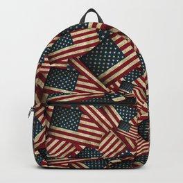 Patriotic Grunge Style American Flag Backpack