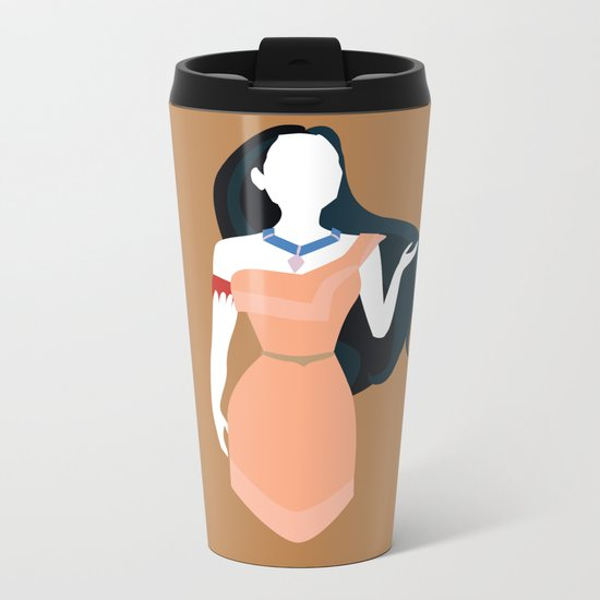 Pocahontas Disney Princess Metal Travel Mug