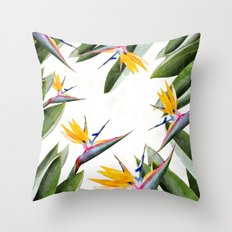 Bird of Paradise #society6 Throw Pillow