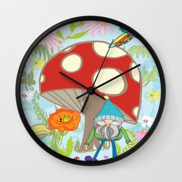 happy gnome and draggy Wall Clock