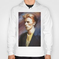 bowie Hoodies featuring Bowie by Cristina Sandia