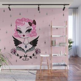 Pink Hair Angel Dolly Wall Mural