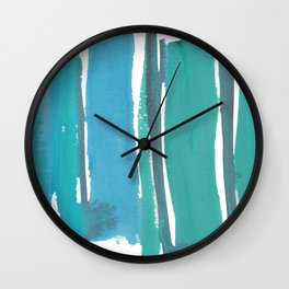 1  |  190408 Blue Abstract Watercolour Wall Clock