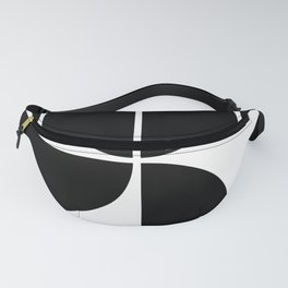 Mid Century Modern Black Square Fanny Pack