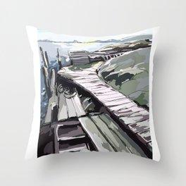 Horsika Pier Throw Pillow
