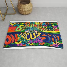 Don't Criticize others.. Psychedelic art Rug