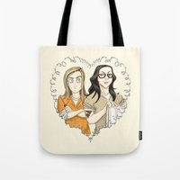 oitnb Tote Bags featuring Alex & Piper Forever OITNB by StephDere