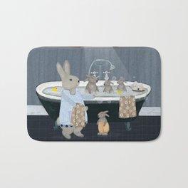 bunny bath time Bath Mat