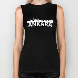 Curved Skyline Of Ankara Turkey Biker Tank