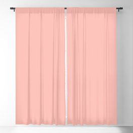 From The Crayon Box – Melon Pink - Pastel Pink Solid Color Blackout Curtain