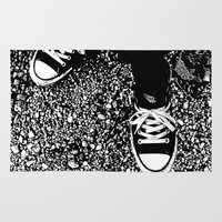 converse Area & Throw Rugs featuring Converse II by Charlotte