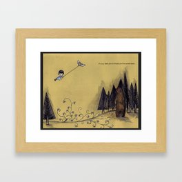 it may lead you to those you've never seen Framed Art Print