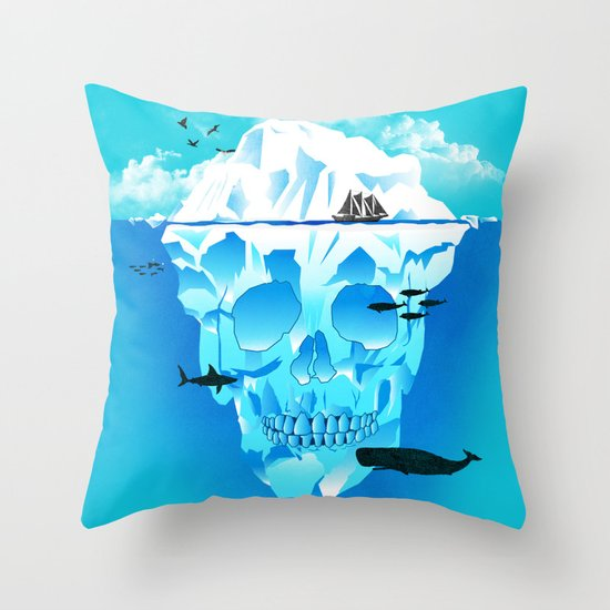 Cold Cruisings and Icy Endings Throw Pillow