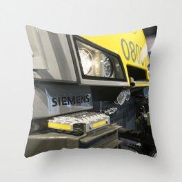 Electric Profile Throw Pillow