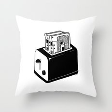 Hot Music Throw Pillow