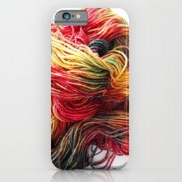 Autumn / Fall Colored Wool Yarn iPhone Case