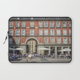 Relaxing cup in Plaza Mayor, Madrid Laptop Sleeve