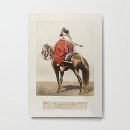 Vintage Print - Uniforms of the French Army (1866) - Spahi: Arabian Light Cavalry Metal Print