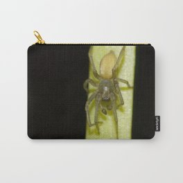 Fuzzy Green Spider Carry-All Pouch
