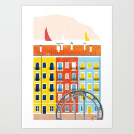 Illustre Conero - Borgo Marinaro Art Print