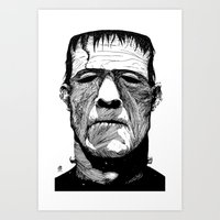 frank Art Prints featuring Frank by Ben BASSO
