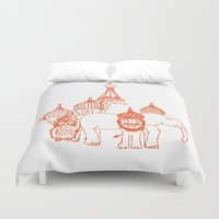 moscow Duvet Covers featuring Moscow by OneOneTwo