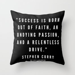 19    |  Sport Quotes | 190527 | Black Throw Pillow