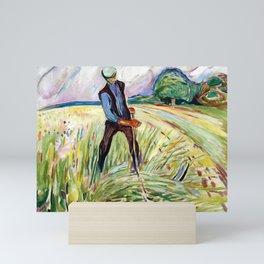Edvard Munch The Haymaker Mini Art Print