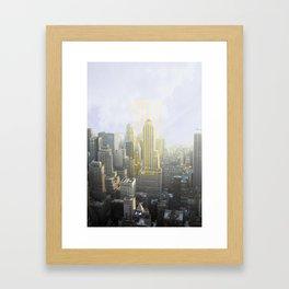 Stay Gold, New York Framed Art Print