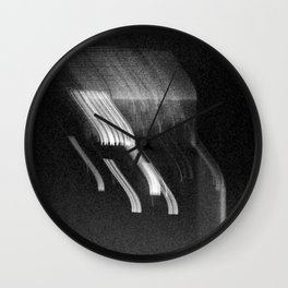 Being at the Drive-In B/W Wall Clock