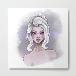 The White Girl Metal Print