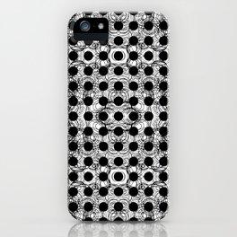 black dot system iPhone Case