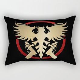Phoenix with pistols emblem Rectangular Pillow
