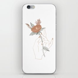 Hand Floral iPhone Skin