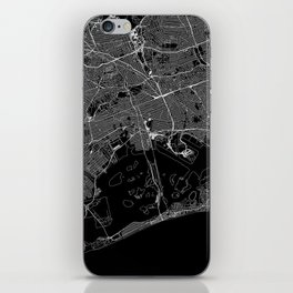 Queens Black Map iPhone Skin
