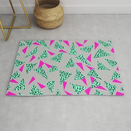 Romy - 80s, Memphis, 90s, bright, throwback, retro, revival, street, urban pattern design Rug