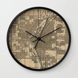 Vintage Map of Denver Colorado (1888) Wall Clock