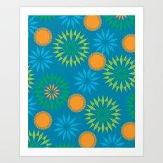 Spikey Flower Calm Art Print