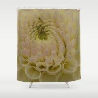 dahlia Shower Curtains featuring Dahlia by Wealie