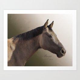 Celebrating Breezer; Horse Portrait Art Print