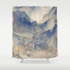 Tulle Mountains Shower Curtain