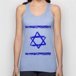 flag of israel 9-יִשְׂרָאֵל ,israeli,Herzl,Jerusalem,Hebrew,Judaism,jew,David,Salomon. Unisex Tank Top